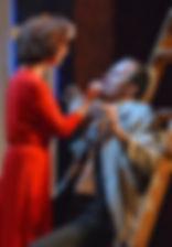 """Егор Баринов и Анна Большова в спектакле """"Семейный ужин в половине второго"""", 2016 год"""