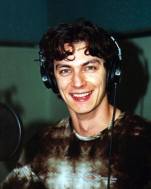 Илья Бледный. Фотография из студии звукозаписи