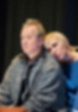 """Андрей Зарецкий и Юлия Рутберг. Фотография спектакля""""Девичник над вечным покоем"""""""