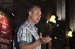 Андрей Зарецкий на открытии сезона в театре Вахтангова, 2016 год