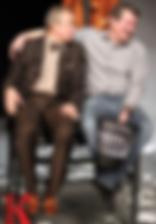 """Андрей Зарецкий и Андрей Ильин. Фотография спектакля""""Игры одиноких"""". Фото Ксении Риклес"""