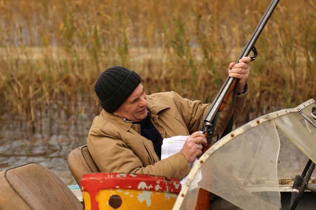 Алексей Гуськов. Фотография со съёмок фильма«Находка»