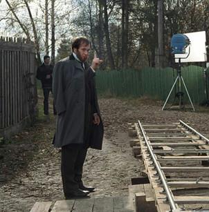 Алексей Гуськов. Фотография со съёмок фильма«Рагин»