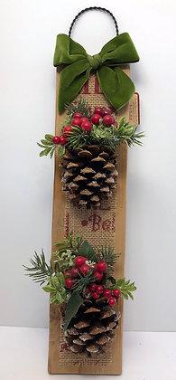 Christmas Pine Cone Hanger