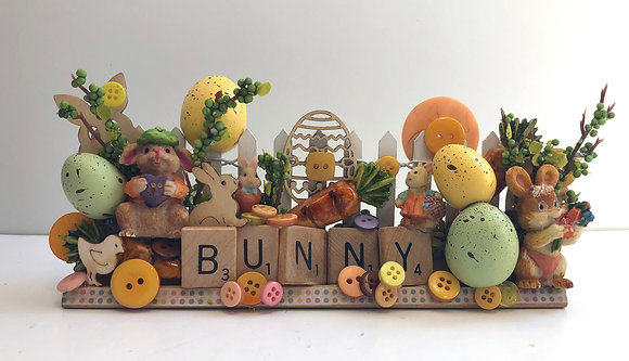 Bunny Easter Scrabble Art