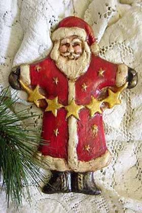 "Santa with Stars - 5"" x 6"""