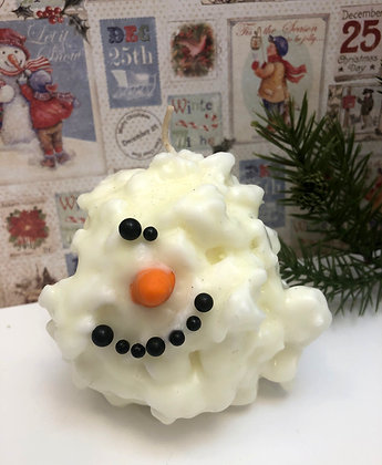 Melting Snowman Candle
