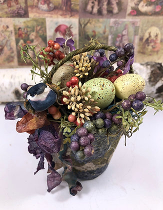 0Spring Easter Floral Peat Pot Home Decor W5