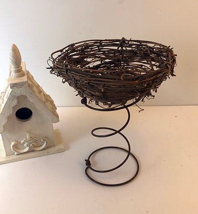 Rusty Bed Spring with Nest
