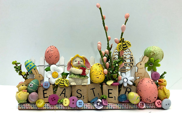 Easter Bunny Scrabble Art