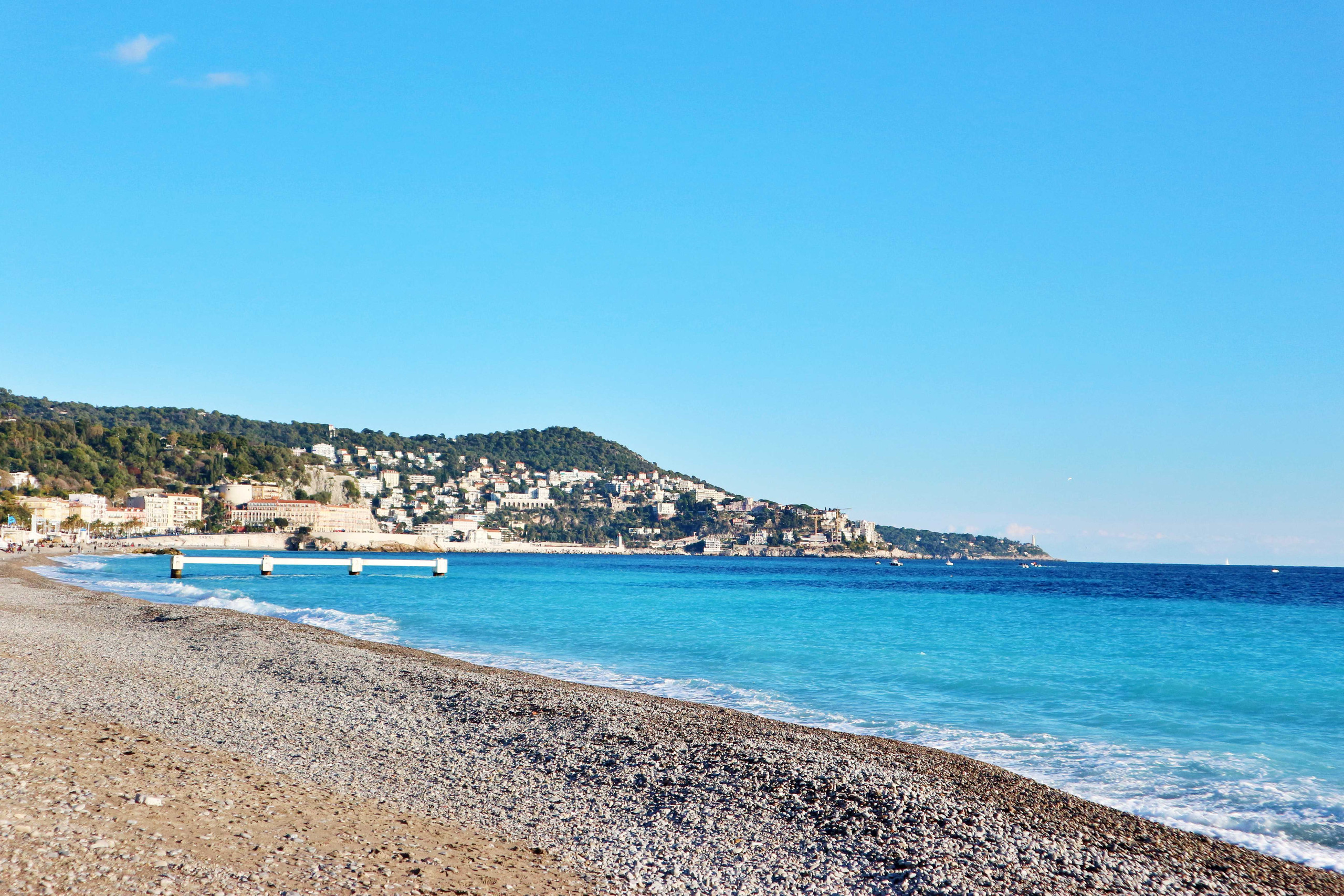 Plage de Carras, Nice, France in the day time