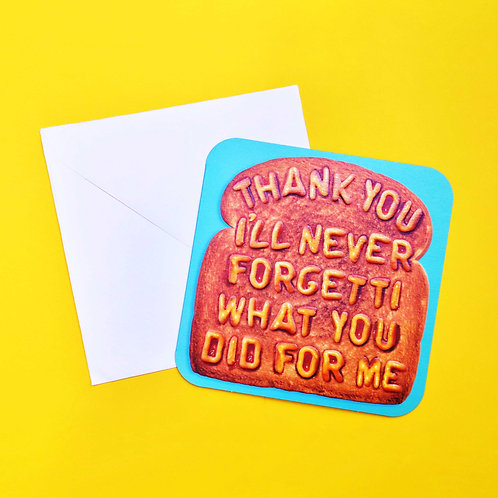 Bijou Thank You Toast to You Card