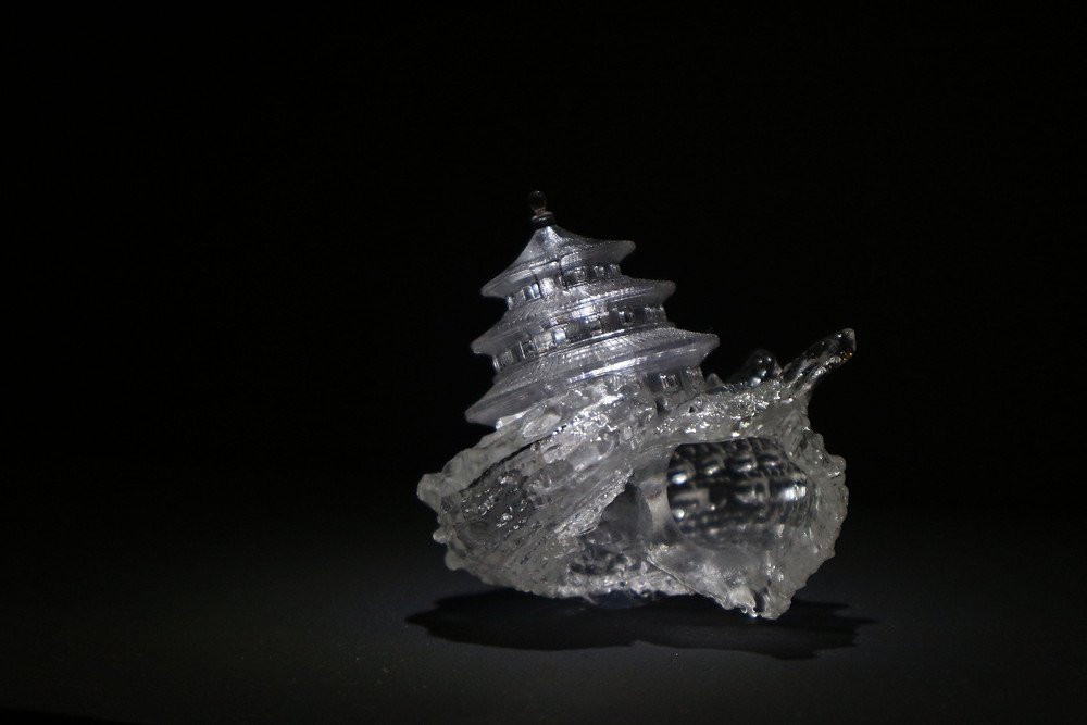 "Why Not Hands Over a ""Shelter"" to Hermit Crabs? (2009-on going project), Aki Inomata, Resin, 3D printing"