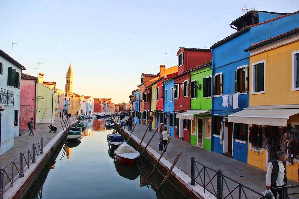 Colourful Building in Burano, Venice