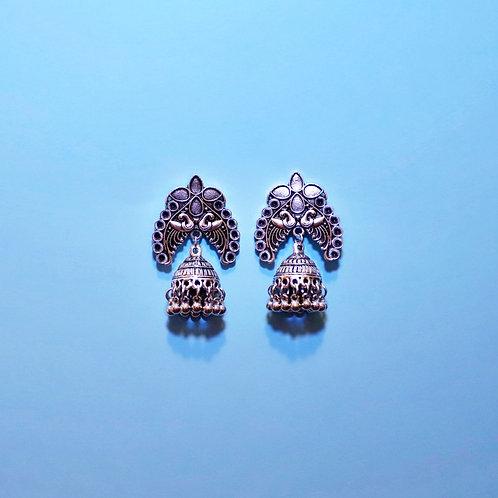 Indian Peacock Bird Cage Earrings