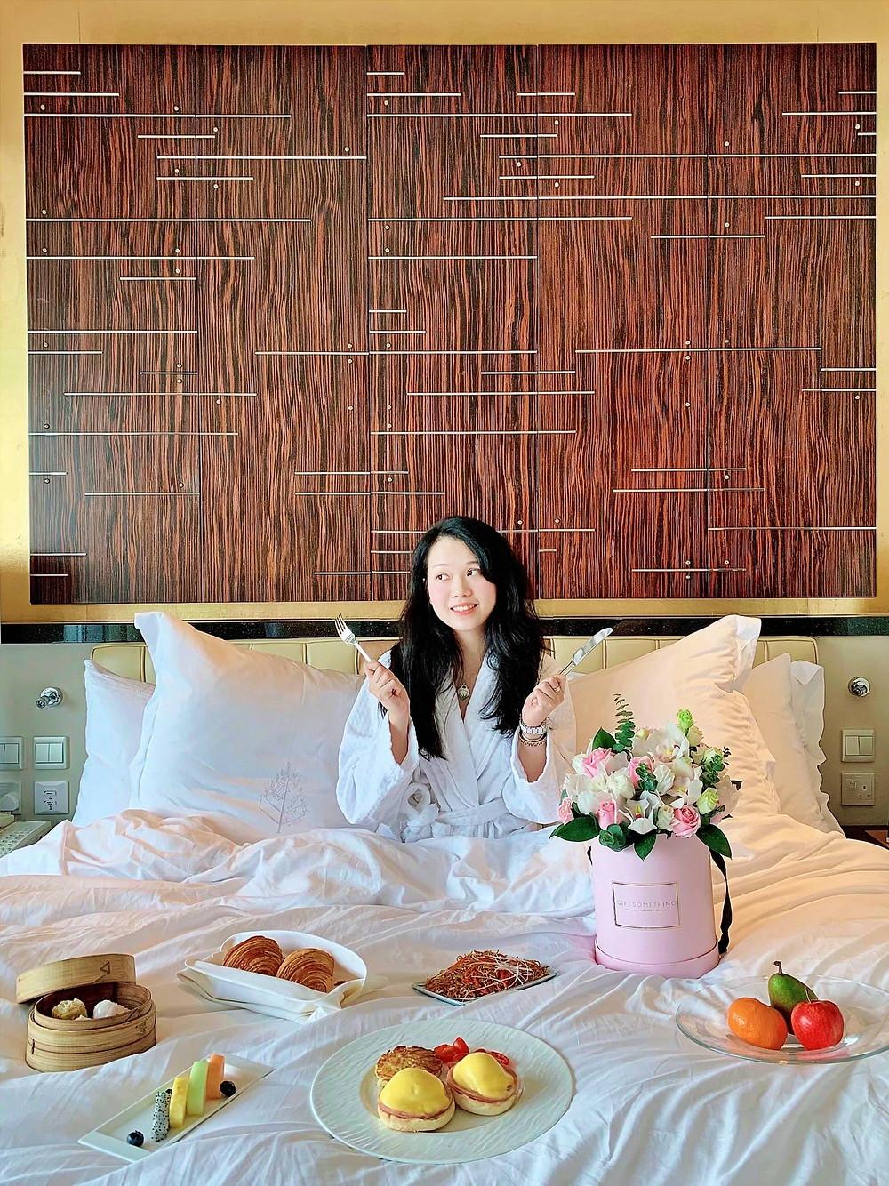In-room Breakfast at Four Seasons Hotel Hong Kong