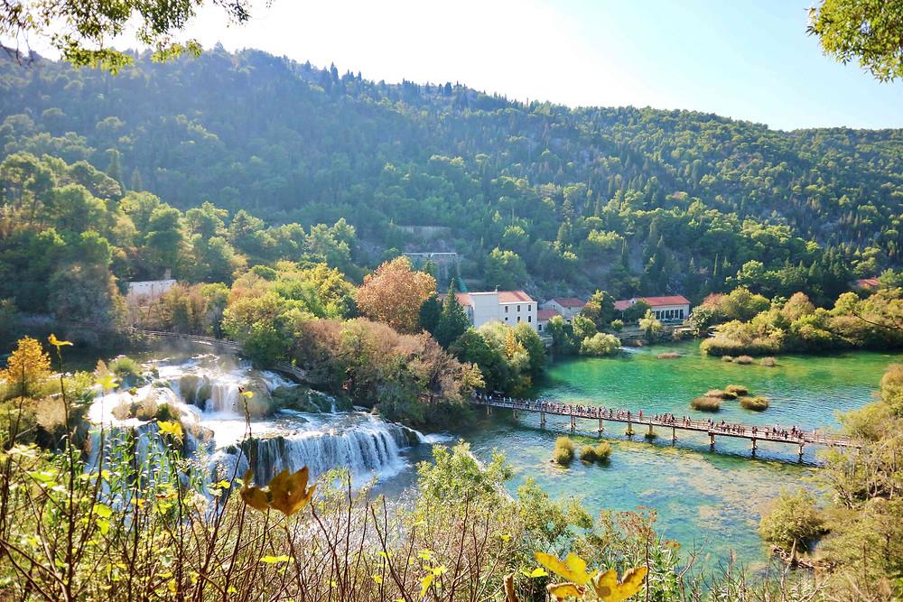 Skradinski Buk Waterfall in Krka National Park, Skradin, Croatia