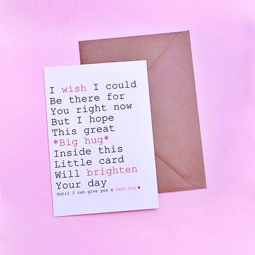 Always Sparkle *Big Hug* Real Hug Card