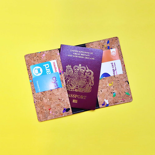 Painted Portuguese Cork Passport Holder