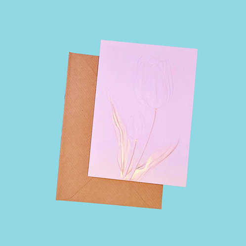 Invisible Flower Greeting Card