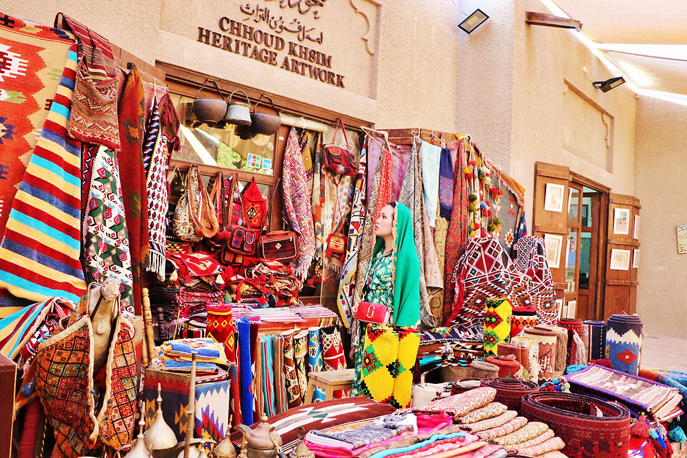 Souvenir shop at Al Fahidi Historical Neighbourhood, Dubai, United Arab Emirates