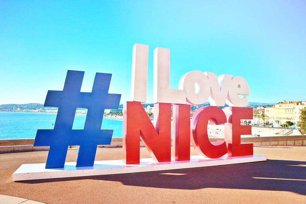 # I Love NICE Sign, Nice, France
