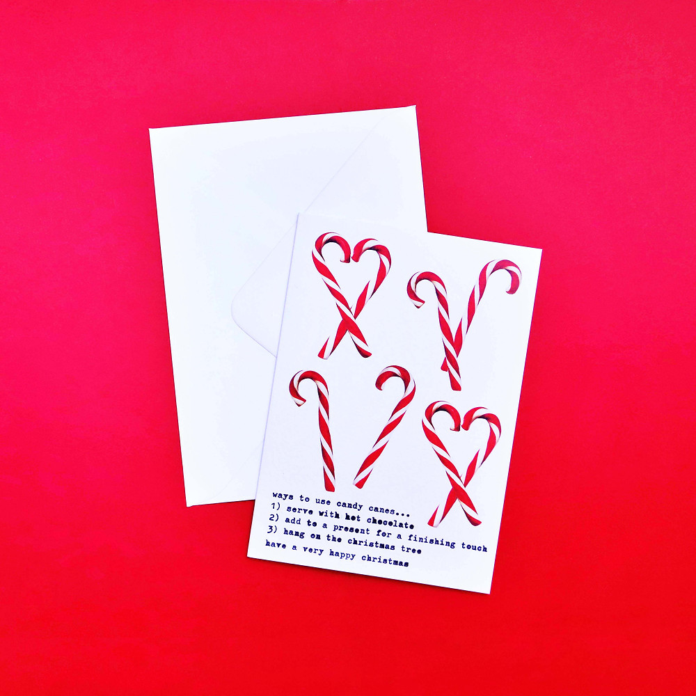 Nancy & Betty Studio Ways to Use Candy Canes Christmas Card