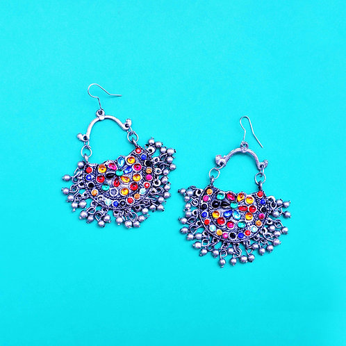 Indian Colourful Statement Earrings
