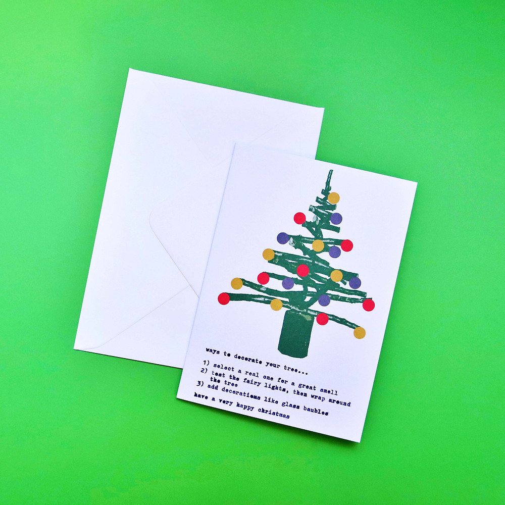 Nancy & Betty Studio Ways to Decorate Your Tree Christmas Card