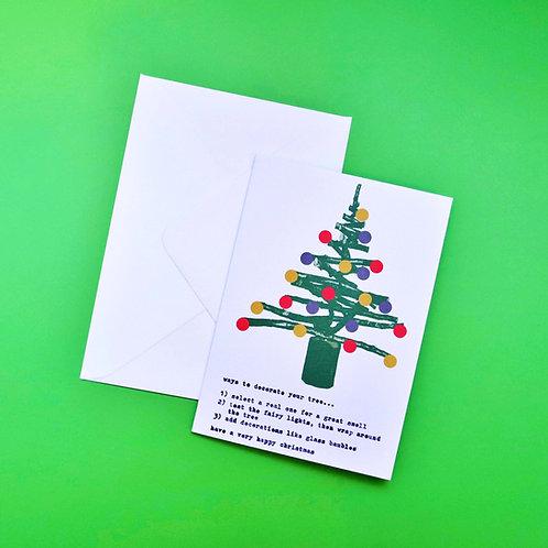 Nancy & Betty Studio Ways to Decorate Your Tree Christmas Card