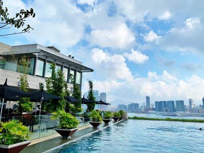 Swimming pool at Four Seasons Hotel Hong Kong
