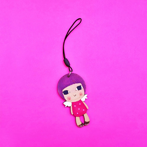 The Angel Wooden Keyring
