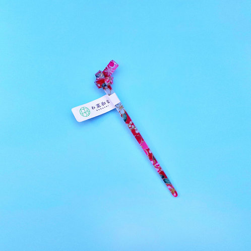Cherry Blossom Kanzashi Hair Stick
