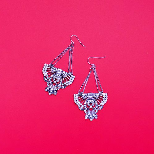 The Sliver Empire Indian Earrings