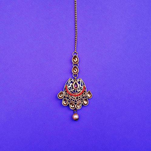 Indian Golden Tikka Headpiece