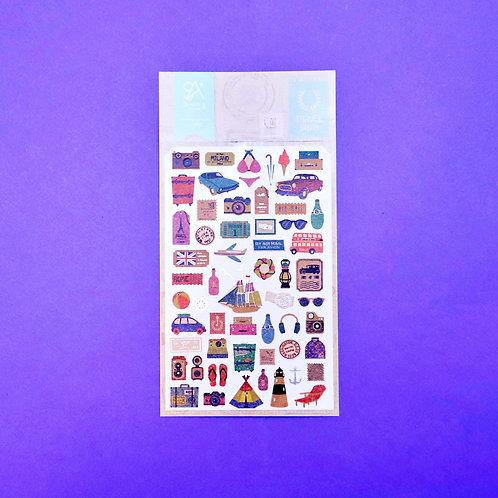 Travel Story Craft Sticker