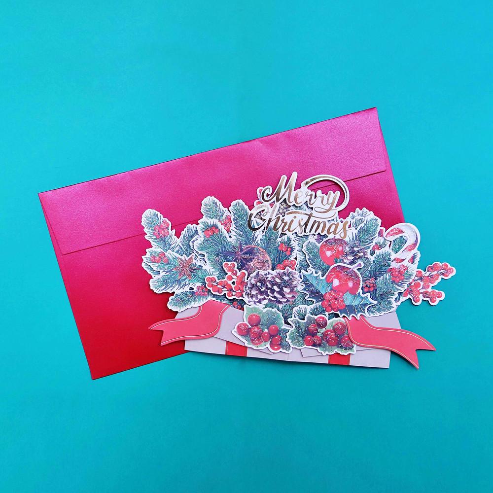 Christmas Box Popup Card