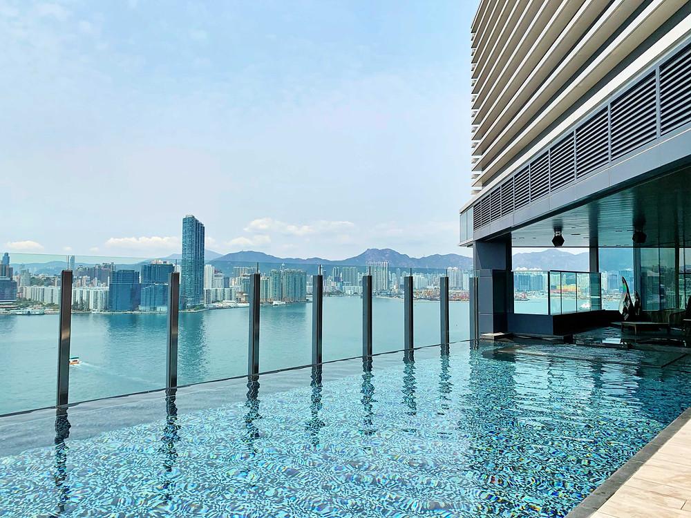 Infinity Pool at Hyatt Centric Victoria Harbour Hong Kong