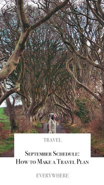 How to make a travel plan