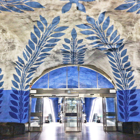 Art-on-the-go: Subway in Stockholm