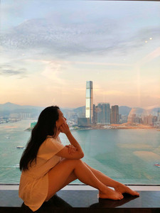 Victoria harbour view from Four Seasons Hotel Hong Kong