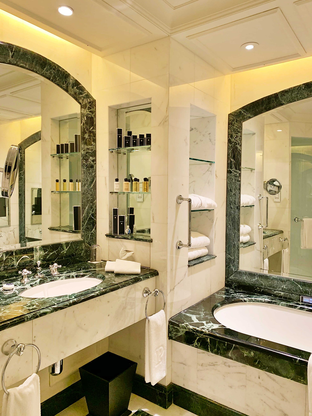 Bathroom at Peninsula Hotel Hong Kong