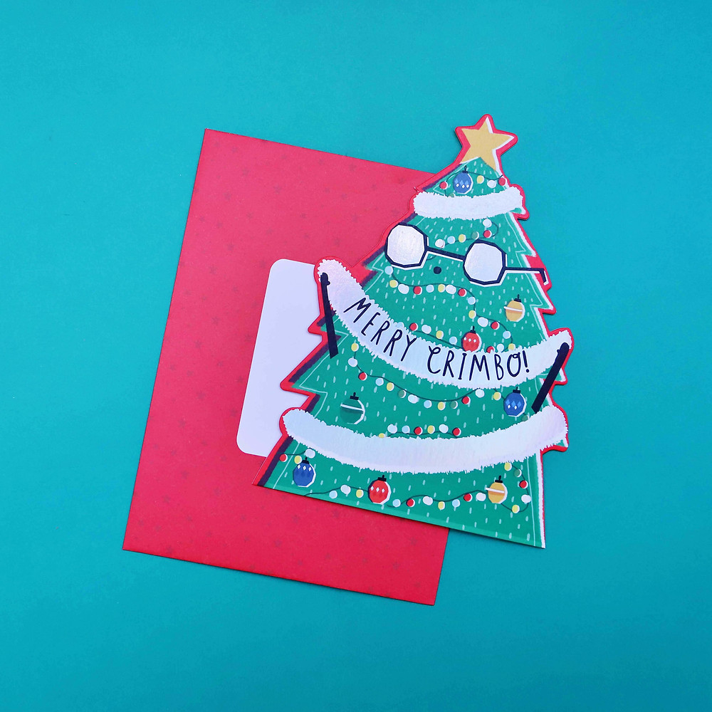 Merry Chimbo! Christmas Tree Card