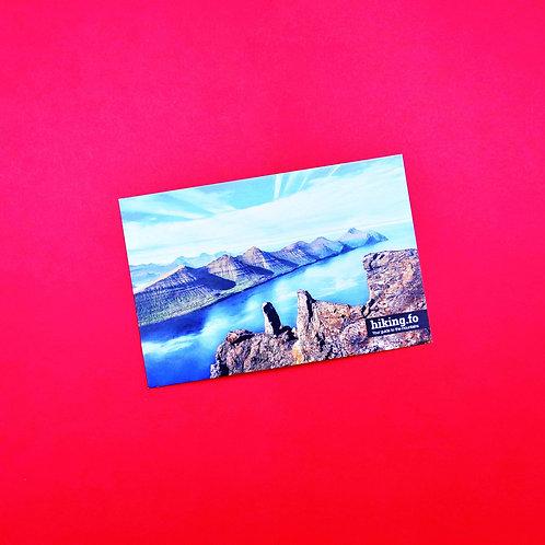 Faroe Islands Hiking Postcard