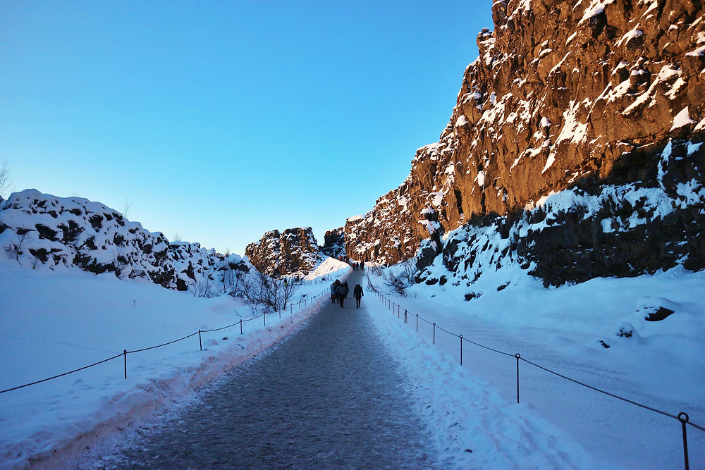 Eurasian and North American Tectonic Plates in Iceland