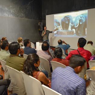 Elephant Enigma presentation, Fort Kochi, India