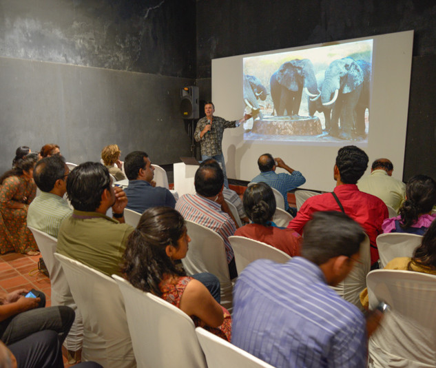 Elephant Enigma presentation, Fort Kochi, India
