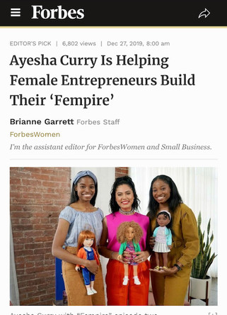 Forbes Article Featuring Carlissa and Laken King of Worldgirls