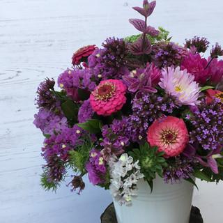 Flower Party Zinc Buckets