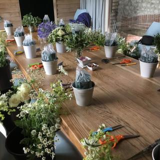 Flower Party Setup